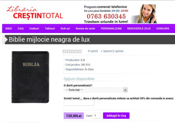 BIBLIE MIJLOCIE DE LUX